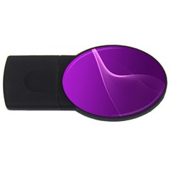 Purple Line USB Flash Drive Oval (1 GB)