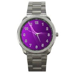 Purple Line Sport Metal Watch