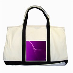 Purple Line Two Tone Tote Bag
