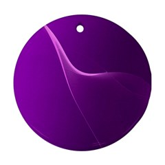 Purple Line Round Ornament (Two Sides)