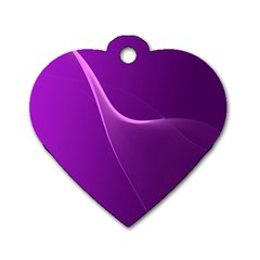 Purple Line Dog Tag Heart (One Side)
