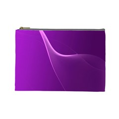 Purple Line Cosmetic Bag (Large)
