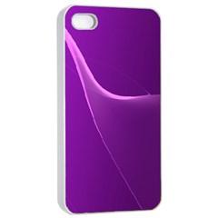 Purple Line Apple iPhone 4/4s Seamless Case (White)