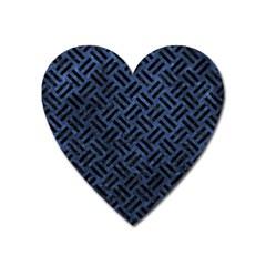 WOV2 BK-MRBL BL-STONE (R) Heart Magnet