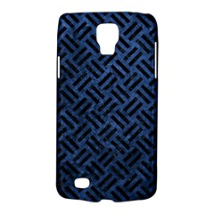 Woven2 Black Marble & Blue Stone (r) Samsung Galaxy S4 Active (i9295) Hardshell Case