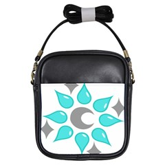 Moon Water Star Grey Blue Girls Sling Bags