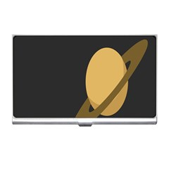 Saturn Ring Planet Space Orange Business Card Holders