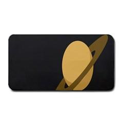 Saturn Ring Planet Space Orange Medium Bar Mats