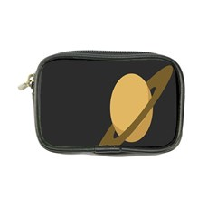Saturn Ring Planet Space Orange Coin Purse
