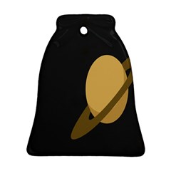 Saturn Ring Planet Space Orange Ornament (Bell)