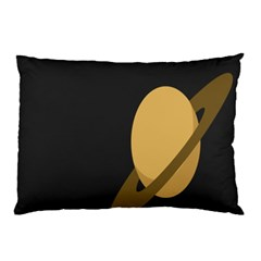 Saturn Ring Planet Space Orange Pillow Case (two Sides)