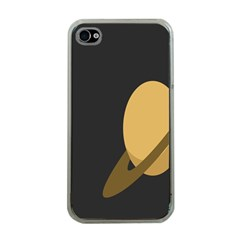 Saturn Ring Planet Space Orange Apple iPhone 4 Case (Clear)