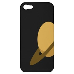 Saturn Ring Planet Space Orange Apple iPhone 5 Hardshell Case