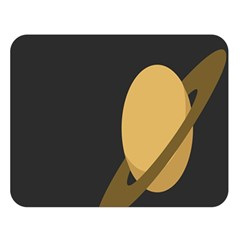 Saturn Ring Planet Space Orange Double Sided Flano Blanket (Large)