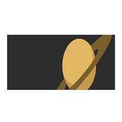 Saturn Ring Planet Space Orange Satin Wrap