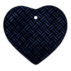 WOV2 BK-MRBL BL-STONE Ornament (Heart)