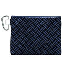 WOV2 BK-MRBL BL-STONE Canvas Cosmetic Bag (XL)