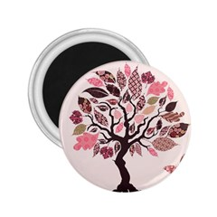 Tree Butterfly Insect Leaf Pink 2.25  Magnets