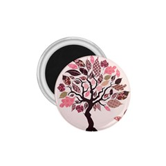 Tree Butterfly Insect Leaf Pink 1 75  Magnets