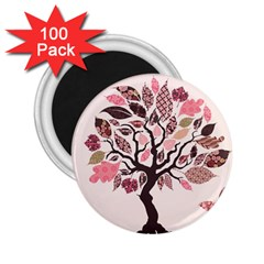 Tree Butterfly Insect Leaf Pink 2.25  Magnets (100 pack)