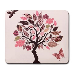 Tree Butterfly Insect Leaf Pink Large Mousepads
