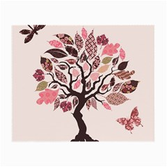 Tree Butterfly Insect Leaf Pink Small Glasses Cloth