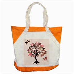 Tree Butterfly Insect Leaf Pink Accent Tote Bag