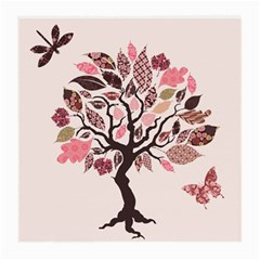 Tree Butterfly Insect Leaf Pink Medium Glasses Cloth