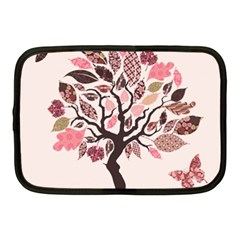Tree Butterfly Insect Leaf Pink Netbook Case (Medium)