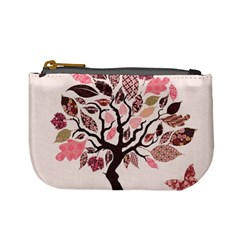 Tree Butterfly Insect Leaf Pink Mini Coin Purses