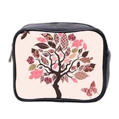 Tree Butterfly Insect Leaf Pink Mini Toiletries Bag 2-Side