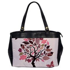 Tree Butterfly Insect Leaf Pink Office Handbags