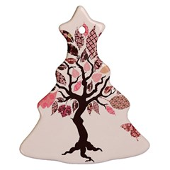 Tree Butterfly Insect Leaf Pink Ornament (Christmas Tree)