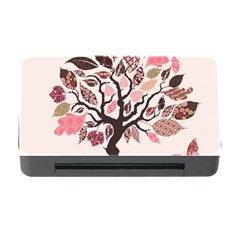 Tree Butterfly Insect Leaf Pink Memory Card Reader with CF