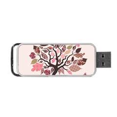 Tree Butterfly Insect Leaf Pink Portable USB Flash (Two Sides)