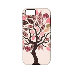 Tree Butterfly Insect Leaf Pink Apple iPhone 5 Classic Hardshell Case (PC+Silicone)
