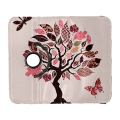 Tree Butterfly Insect Leaf Pink Galaxy S3 (Flip/Folio)