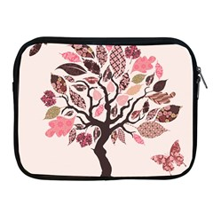 Tree Butterfly Insect Leaf Pink Apple iPad 2/3/4 Zipper Cases