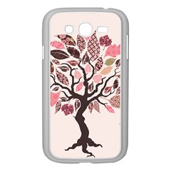 Tree Butterfly Insect Leaf Pink Samsung Galaxy Grand DUOS I9082 Case (White)