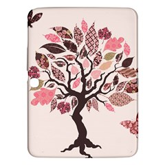 Tree Butterfly Insect Leaf Pink Samsung Galaxy Tab 3 (10.1 ) P5200 Hardshell Case