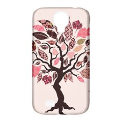 Tree Butterfly Insect Leaf Pink Samsung Galaxy S4 Classic Hardshell Case (PC+Silicone)