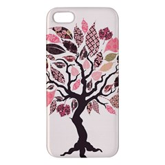 Tree Butterfly Insect Leaf Pink iPhone 5S/ SE Premium Hardshell Case