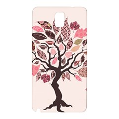Tree Butterfly Insect Leaf Pink Samsung Galaxy Note 3 N9005 Hardshell Back Case