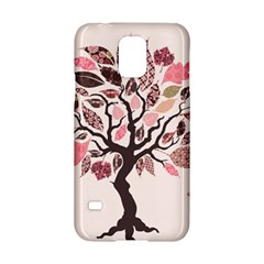 Tree Butterfly Insect Leaf Pink Samsung Galaxy S5 Hardshell Case