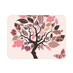 Tree Butterfly Insect Leaf Pink Double Sided Flano Blanket (Mini)