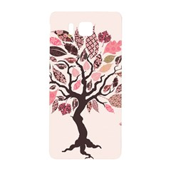 Tree Butterfly Insect Leaf Pink Samsung Galaxy Alpha Hardshell Back Case