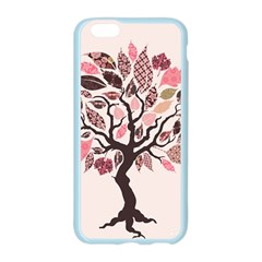 Tree Butterfly Insect Leaf Pink Apple Seamless iPhone 6/6S Case (Color)