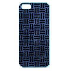 WOV1 BK-MRBL BL-STONE (R) Apple Seamless iPhone 5 Case (Color)