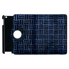 WOV1 BK-MRBL BL-STONE (R) Apple iPad 3/4 Flip 360 Case