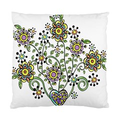 Frame Flower Floral Sun Purple Yellow Green Standard Cushion Case (One Side)
